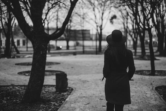 girl taking stroll