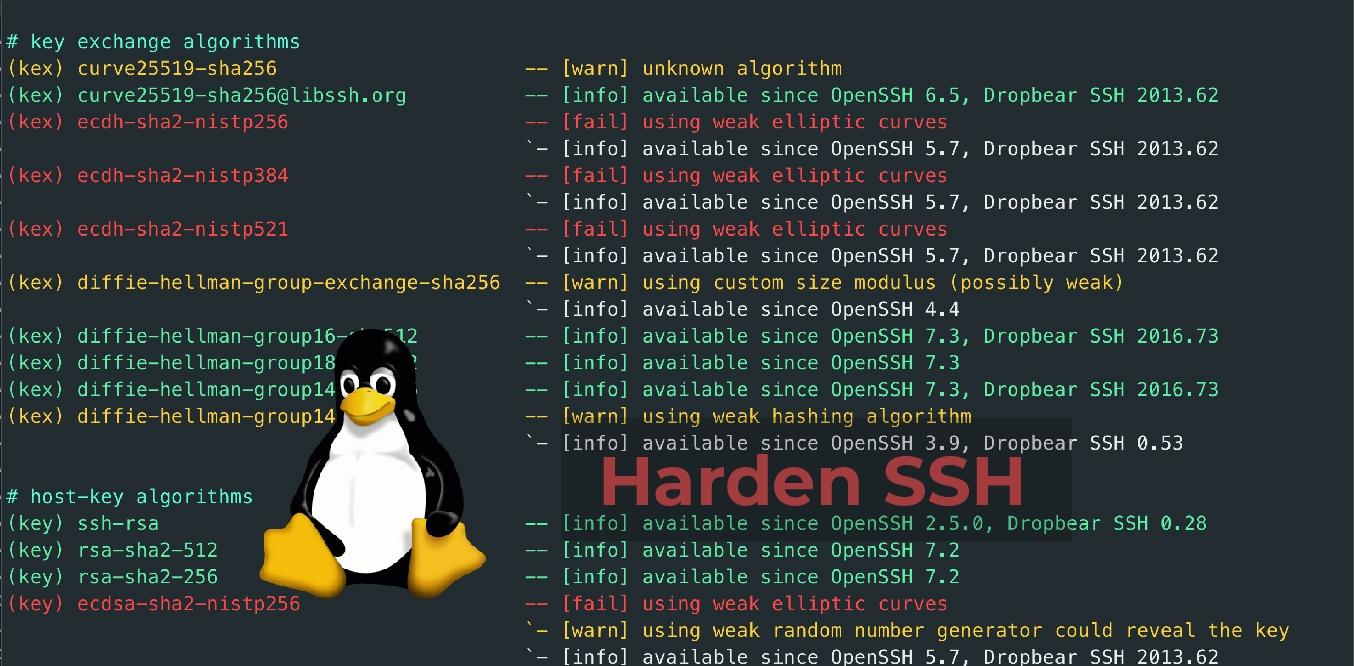 Harden SSH