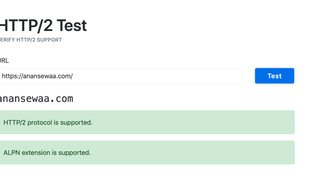 HTTP/2 Test