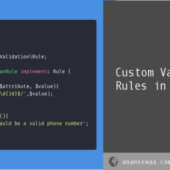 Custom Validation Rules in Laravel 5.5