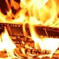 burning wood