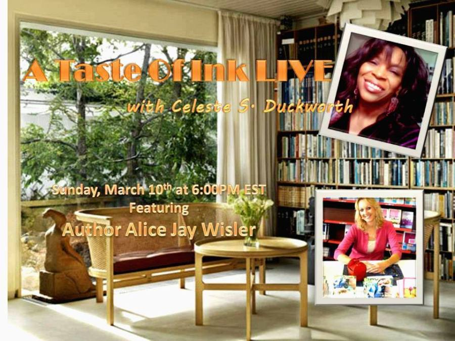 A Taste Of Ink LIVE with Author Alice Wisler
