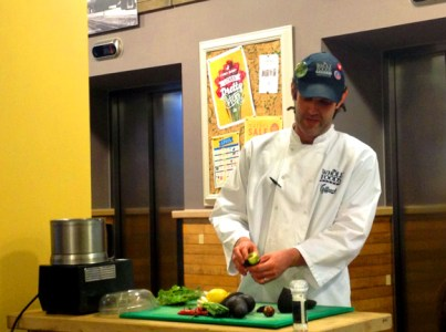 Max making Guacamole