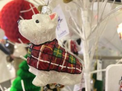 John Lewis at Christmas Bombki Little Scottie Dog Hanging Decoration