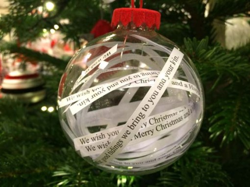 John Lewis at Christmas Christmas Carol Glass Bauble