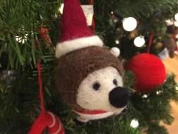 John Lewis at Christmas Felt Hedgehog With Hat, Multi