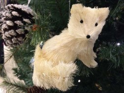 John Lewis at Christmas Sisal Fox Decoration, White