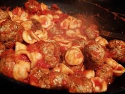 Orecchiette alla Potentina- Adding Pasta