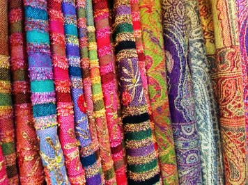 Ananyah- Marrakech Souk- Colourful Fabric
