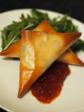 Ananyah-Burns Supper-Haggis Samosa with Chilli Tomato Chutney