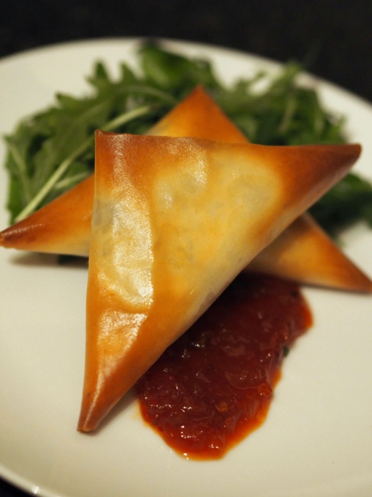 Ananyah-Burns Supper-Haggis Samosa with Chilli Tomato Chutney