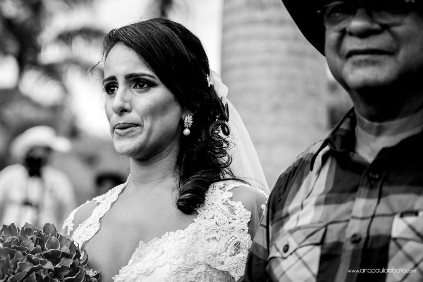 emotional bride crying