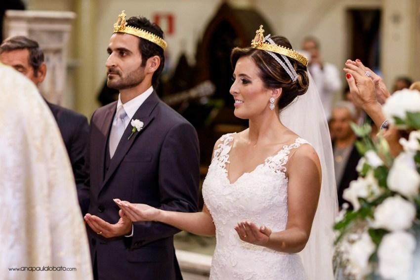 Coroação dos noivos em cerimônia de casamento árabe no Brasil