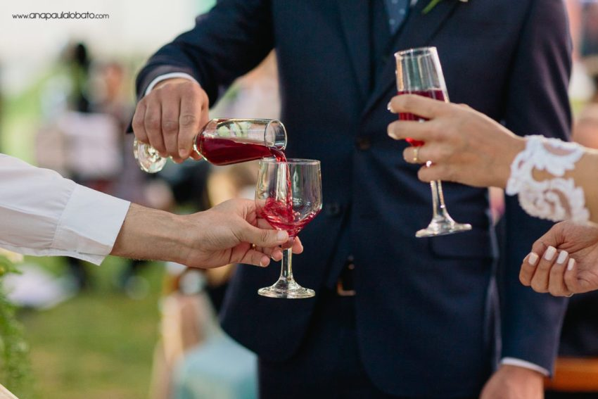 brinde noivos cerimônia