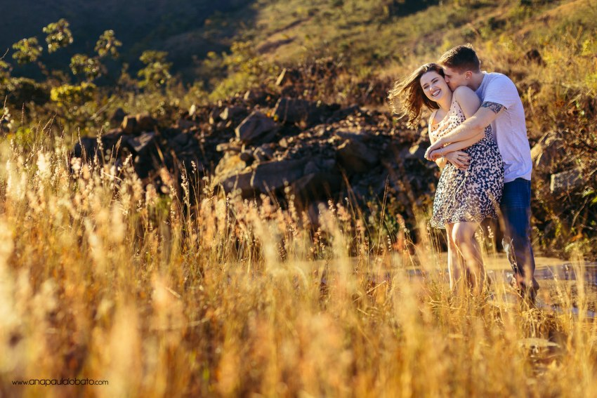 fun engagement photos in the nature