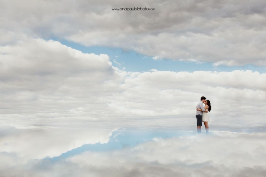 portrait shooting in the sky