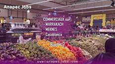 Commercial recrutement sur MARRAKACH-MEKNES-Casablanca