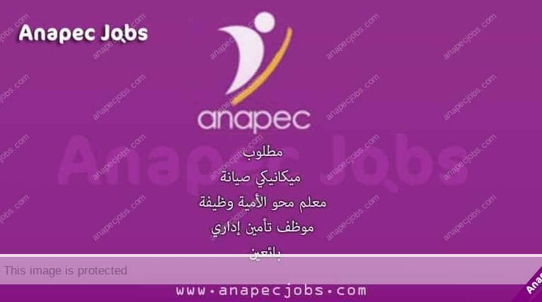 مطلوب: ميكانيكي صيانة - معلم محو الأمية وظيفة - موظف تأمين إداري- بائعين
