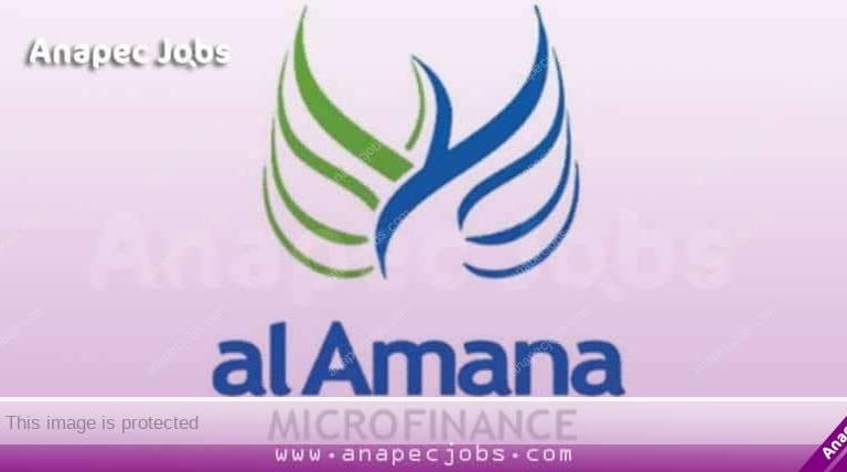 Al Amana Microfinance recrute des Conseillers Clientèle TPE