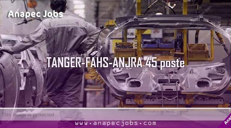 Opérateur sur TANGER-FAHS-ANJRA 45 poste
