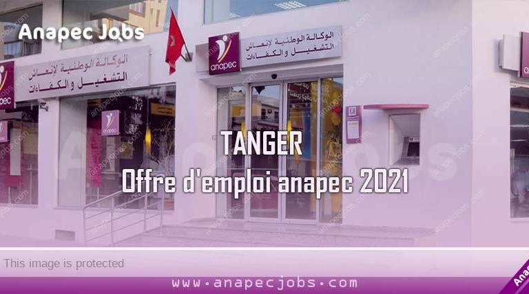 TANGER offre d'emploi anapec 2021