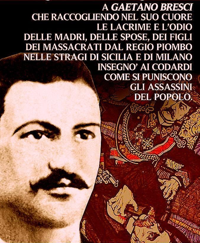Gaetano Bresci. (10-11-1869-22-5-1901)