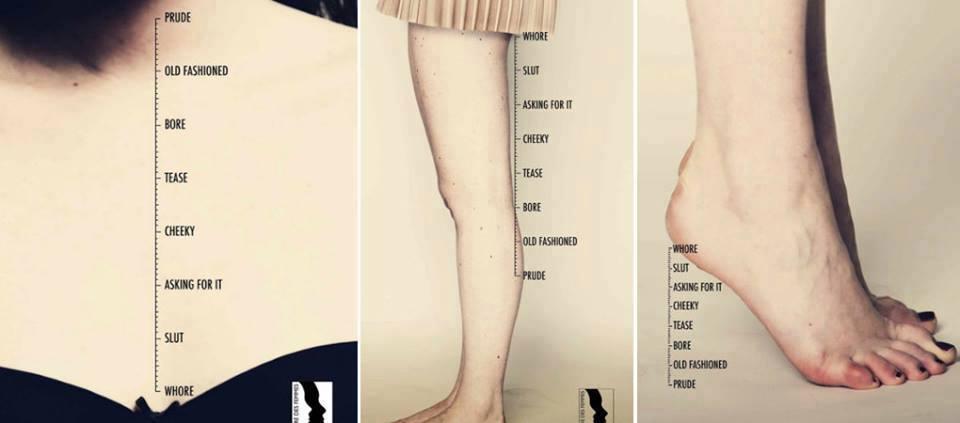 Manifesti antisessisti per una pubblicità regresso.