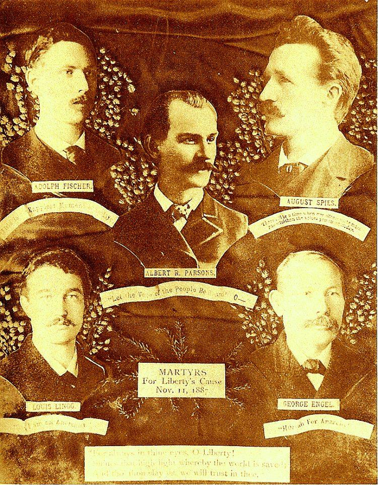 11 novembre 1887 i martiri di Chicago