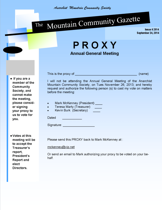 AMCS-AGM Announcement 2014 - Proxy