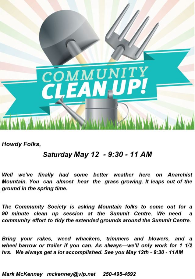 Summit Centre Cleanup May 2018