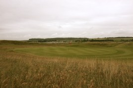 The view of the 5th green from the left-hand rough.