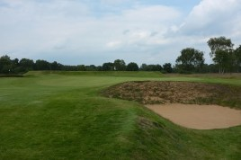 The view of the 2nd green from the right-hand side of the fairway.