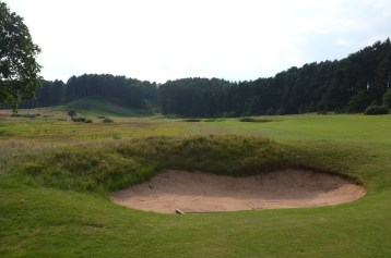 The view from the 17th fairway from just in front of the first fairway bunker.