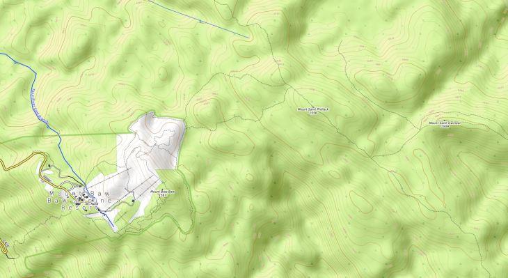 Baw Baw Topo Map