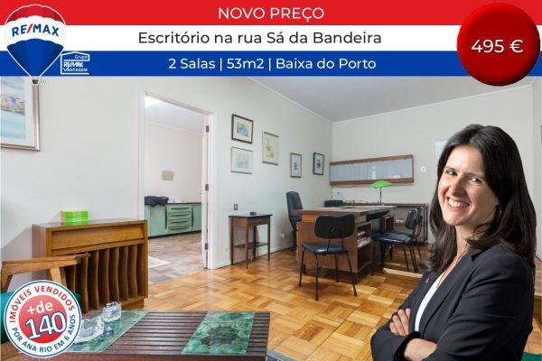 131 Novo Preço Escritório 53m2 na Baixa do Porto