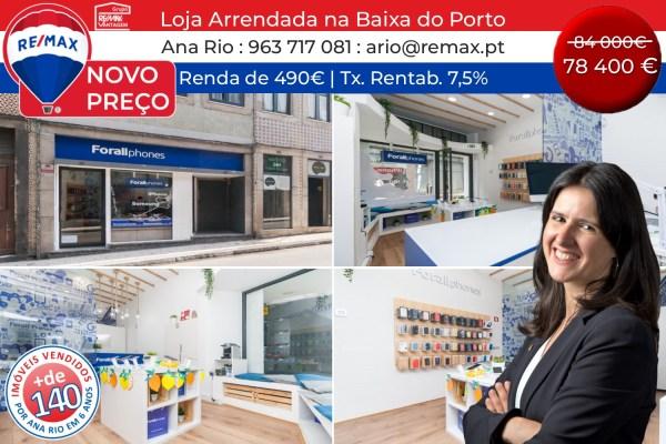Novo Preço - Loja arrendada na Baixa do Porto
