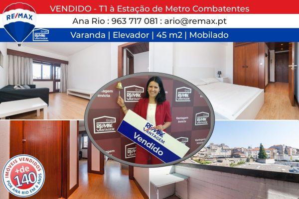 144 VENDIDO - Apartamento T1 à Estação de Metro Combatentes