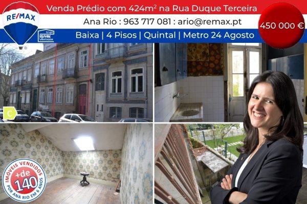 Venda Prédio de 4 pisos com 424 m2 na Rua Duque da Terceira
