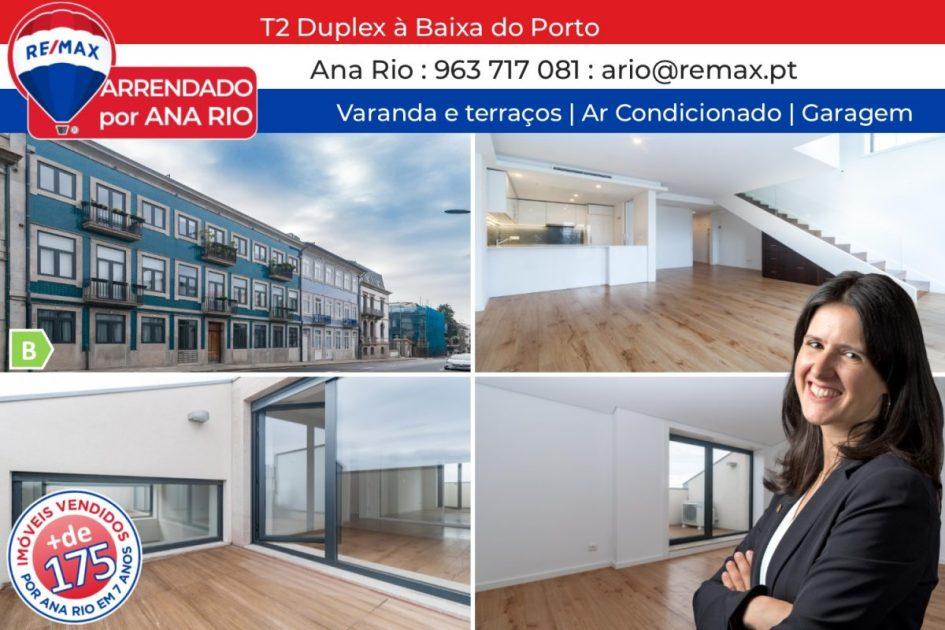 164 Arrendado T2 Duplex na Baixa