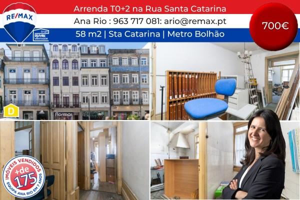 Arrenda T0+2 para Recuperar ao Via Catarina