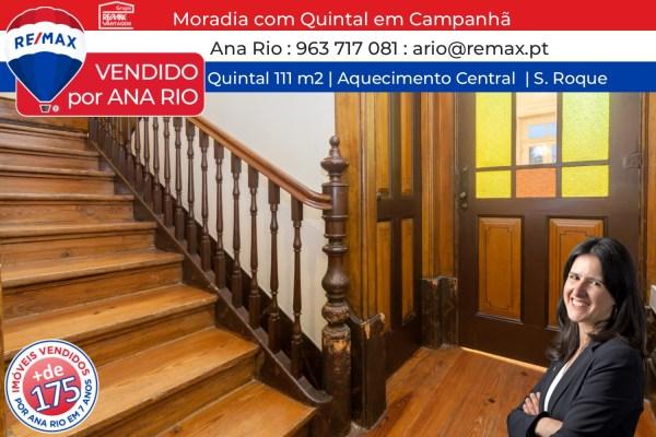 Vendida Moradia com Quintal em Campanhã