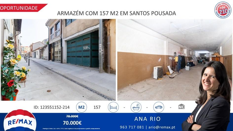 Oportunidade - Venda Armazém com 157 m2 em Santos Pousada