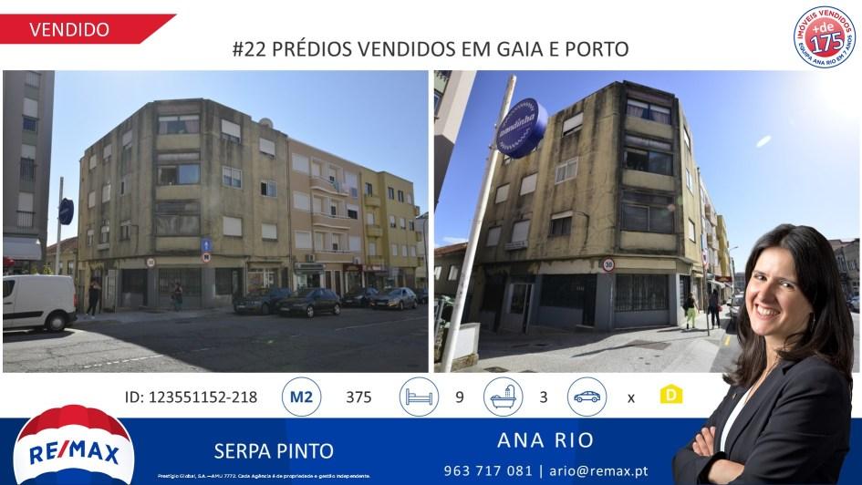 #22 Prédios Vendidos em Gaia e Porto