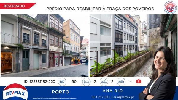 Reservado - Prédio para Reabilitar à Praça dos Poveiros