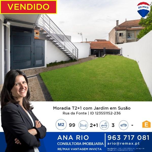Vendido T2+1 com Jardim em Susão