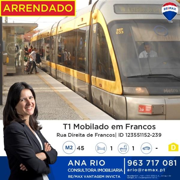 Arrendado T1 Mobilado em Francos