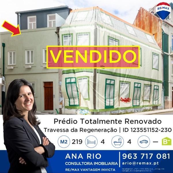 Vendido Prédio #24 no Centro do Porto