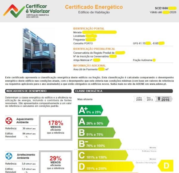 Certificado Energético Normal