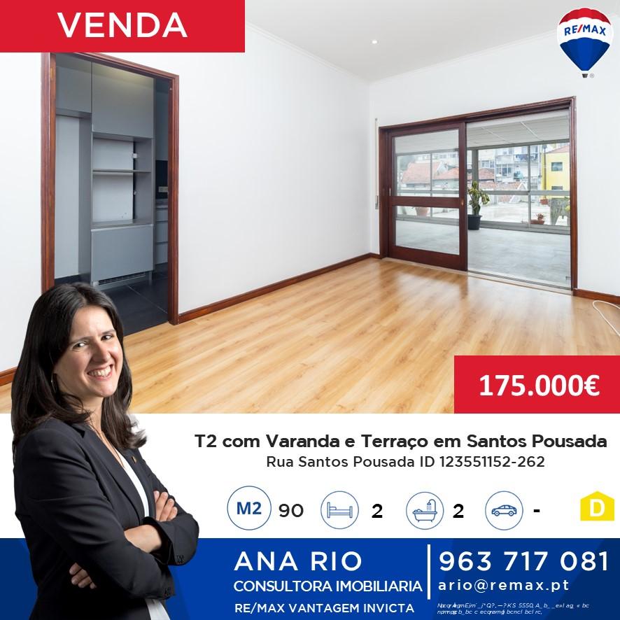T2 Renovado com Varanda e Terraço em Santos Pousada
