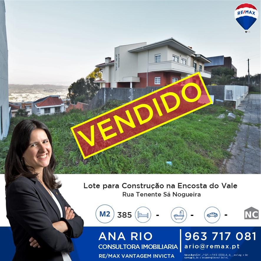 ID268 Vendido! Lote com 385m2 para construção de moradia na Encosta do Vale em Valongo